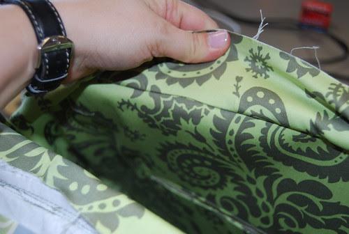 Weekender Bag Lining insertion