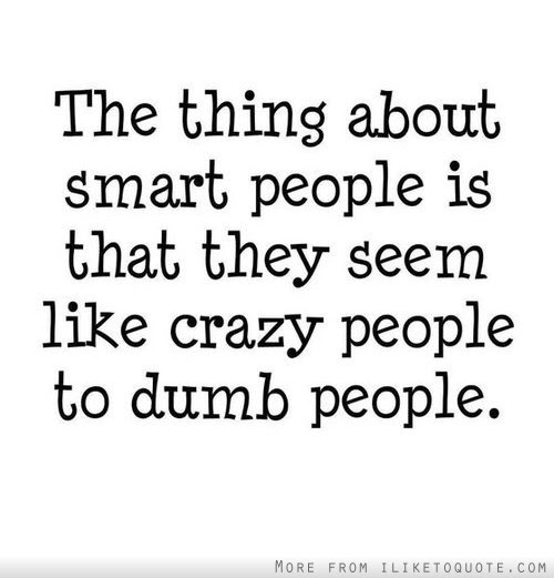 The Thing About Smart People Is That They Seem Like Crazy People To