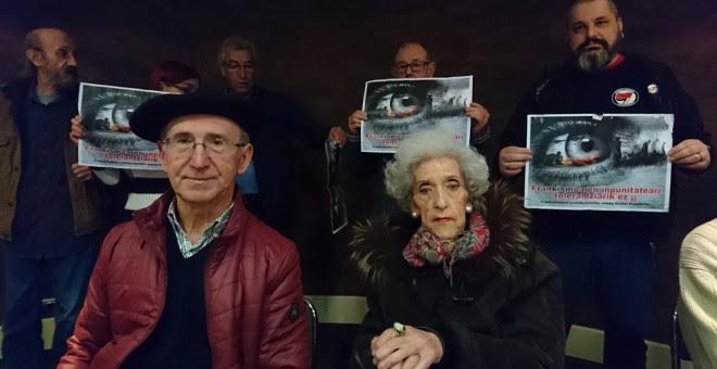 Julia Lanas y Tasio Erkizia, durante la rueda de prensa celebrada el miércoles.-