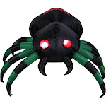 3.5' Inflatable Lighted Spider Halloween Outdoor Decoration by Christmas Central