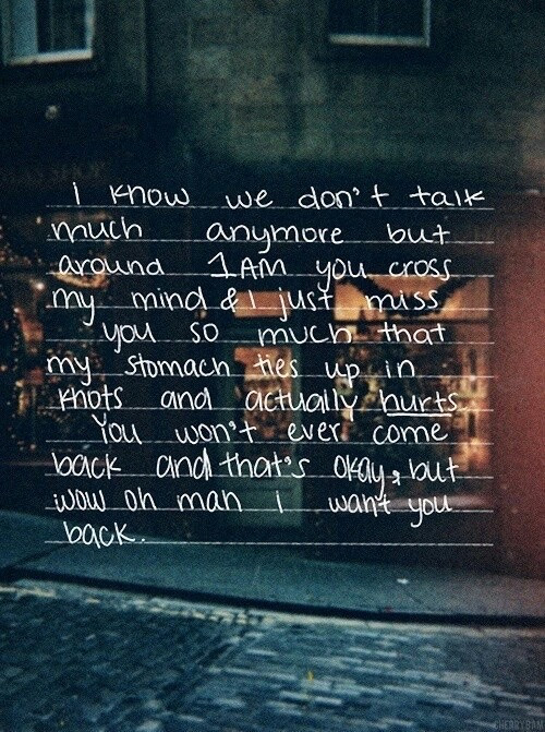 Love Lost Couple Life Sad Quotes Hipster Vintage Grunge I Miss You