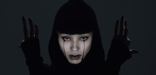 Gorgeous Japanese performance art combines dance and high-speed face mapping