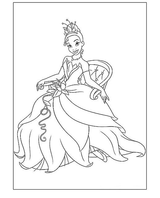 Principessa Tiana Disegni Gratis Da Colorare Disegni Da Colorare