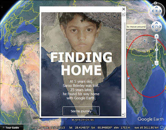 The story of Saroo Brierley now featured in Google Earth - Google Earth Blog