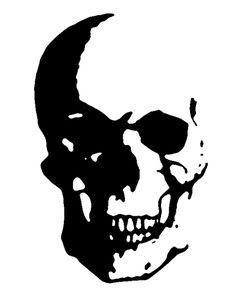 skull stencil | stencil-skull | All Hallow