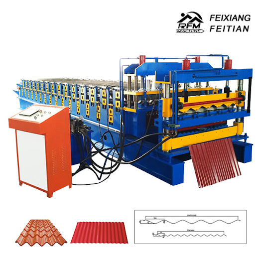 Sheet metal roofing double layer roll forming machine
