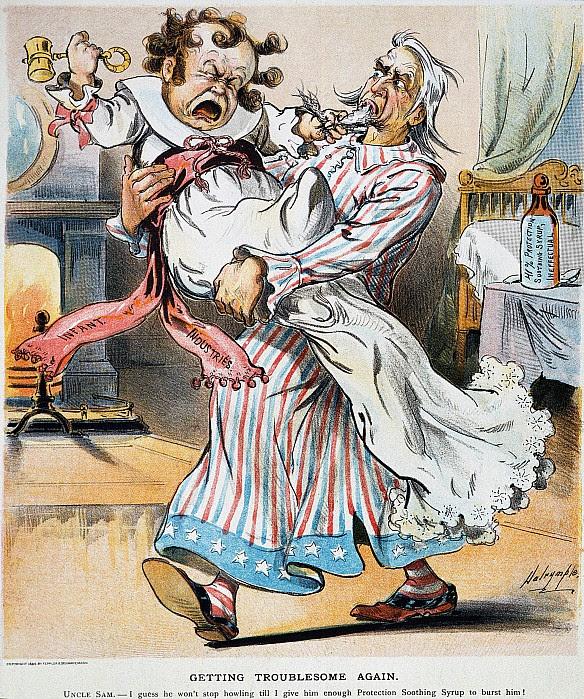 Tariff Cartoon, 1896 Photograph  - Tariff Cartoon, 1896 Fine Art Print
