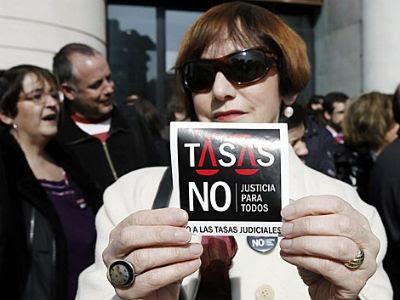 Protesta contra las tasas judiciales. -EFE