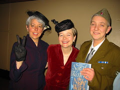 my girlfriend Amy with Sarah Waters and our friend Helen Sandler