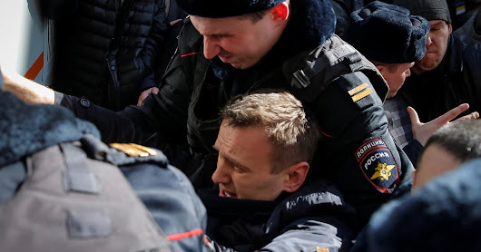 Aleksei Navalny, Top Putin Critic, Arrested as Protests Flare in Russia