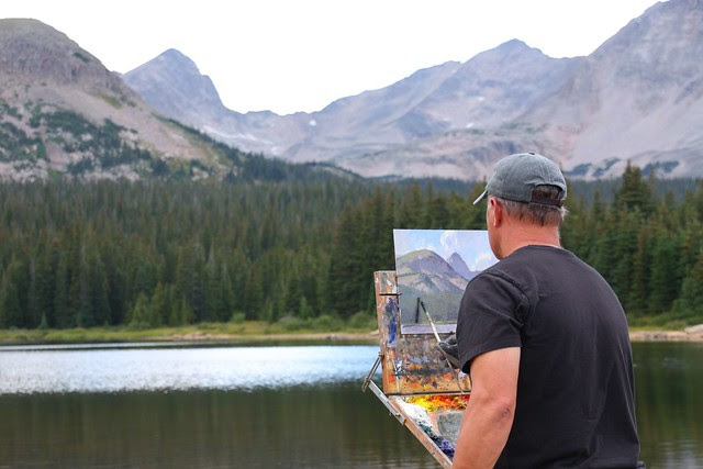 Marc Hanson painting at Brainard Lake