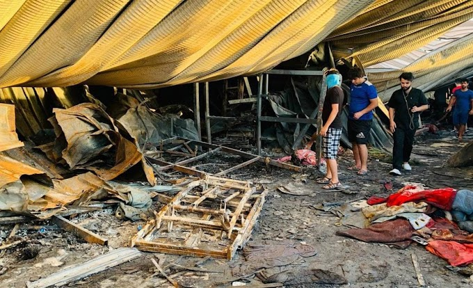 AL MENOS 64 MUERTOS POR UN INCENDIO EN UN HOSPITAL PARA LA COVID-19 EN IRAK