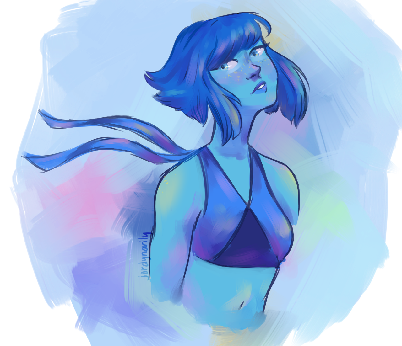 did a quick lapis doodle to test out a new coloring style!