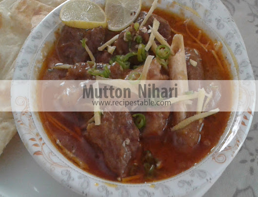 Mutton Nihari Recipe
