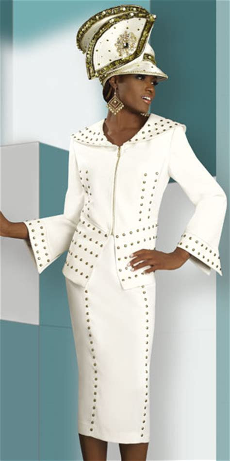 Lisa Rene by Donna Vinci Womens Ivory Church Suit 3172
