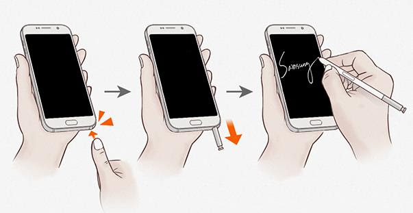 How_to_use_Galaxy_Note_5_screen_off_memo_3_pull_out_S_pen