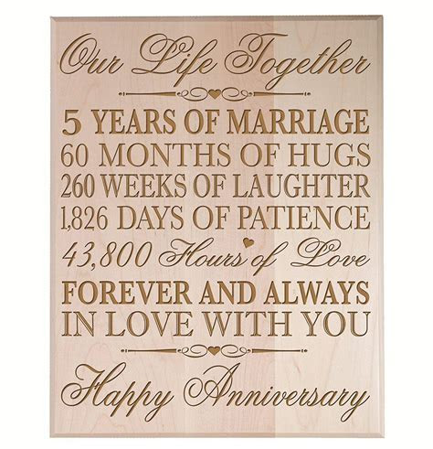 Top 20 Best 5th Wedding Anniversary Gifts   us57