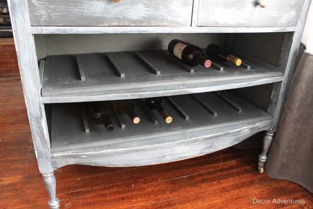 Unique Wine Rack From An Old Dresser Decor Adventures
