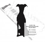Saluki Sitting Dog Silhouette Yard Art Woodworking Pattern - fee plans from WoodworkersWorkshop® Online Store - Saluki,dogs,pets,animals,yard art,painting wood crafts,scrollsawing patterns,drawings,plywood,plywoodworking plans,woodworkers projects,workshop blueprints