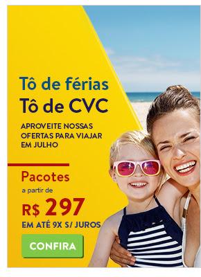 To de Ferias. To de CVC. Pacotes a partir de 297 reais.