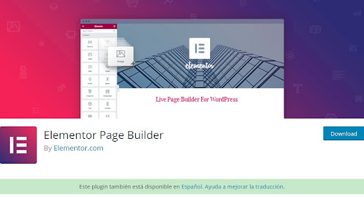 Elementor page builder landing page with Genesis Framework