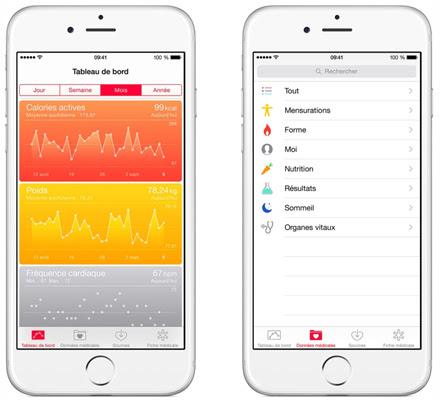 Santé iOS 8