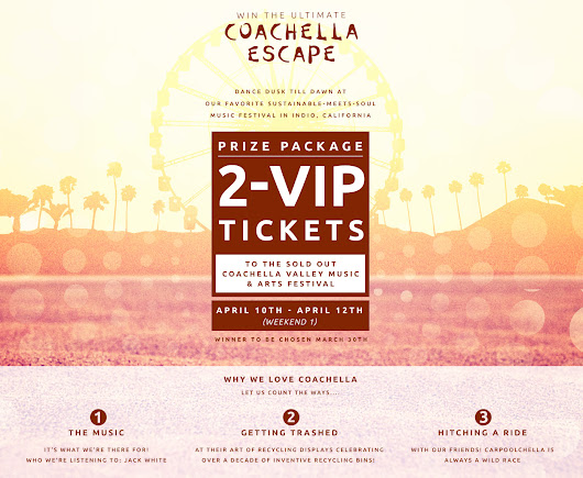 Win the Ultimate COACHELLA Escape