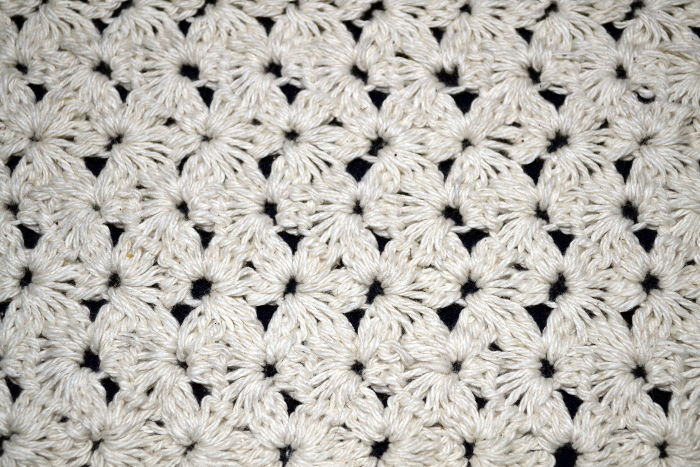 Punto Puntojazmin tradicional tejido a crochet