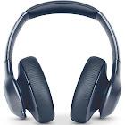 JBL Everest Elite 750NC Bluetooth Wireless Over-Ear Headphones with Mic - Noise-Canceling - Metallic Blue