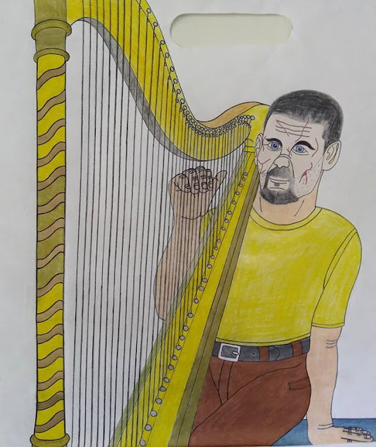 NEW JIGSAW HARP ART: Song of Betrayal.