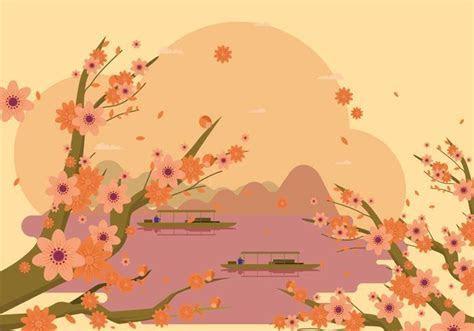 Free Elegant Spring Peach Flower Background   Download