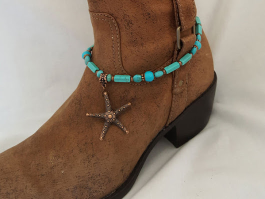 Starfish and Turquoise Boot Bling – Arzinger Jewelry