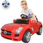 Red Mercedes Benz SLS Kids RC Ride on Car w/ MP3