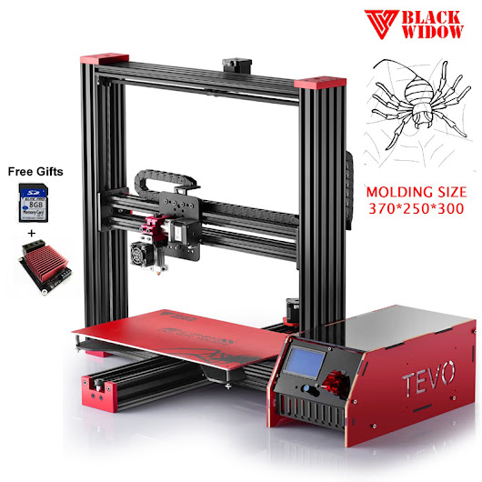 2017 Newest Tevo Black Widow 3D Printer Large Printing Area 370*250*300mm 3D Printer Kit Printer 3D with Heated Bed Free MOSFET