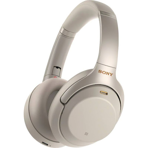 Sony - WH-1000XM3 Wireless Noise Canceling Over-the-Ear Headphones with Google Assistant - Silver