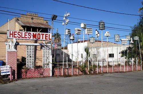 hesles motel birdhouses