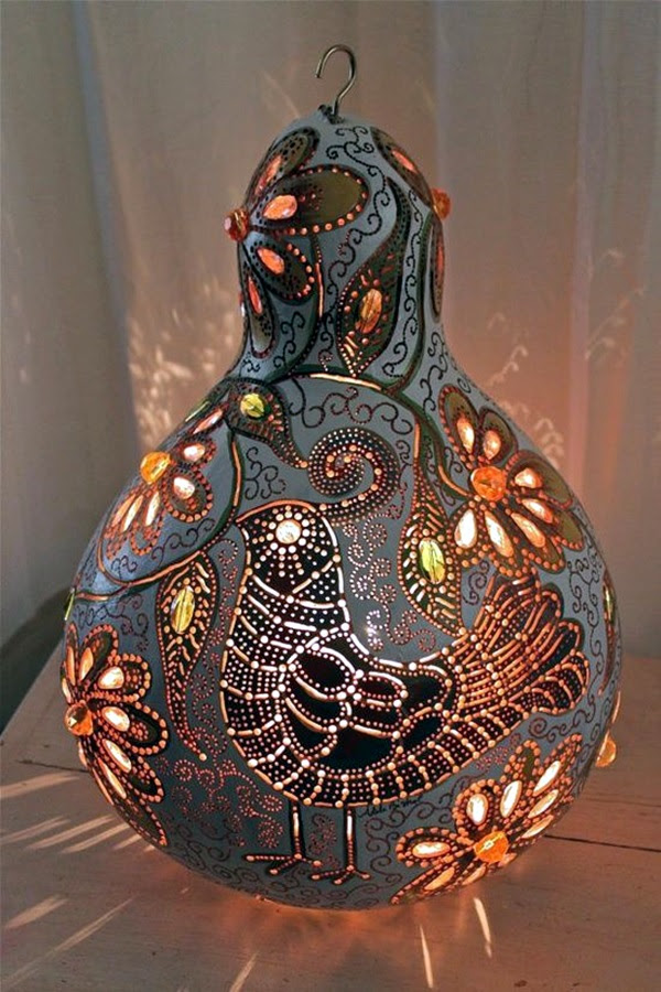 Amazing Art Inspired Gourd Lamps (37)