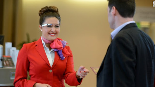 Virgin tests Google Glass at check-in