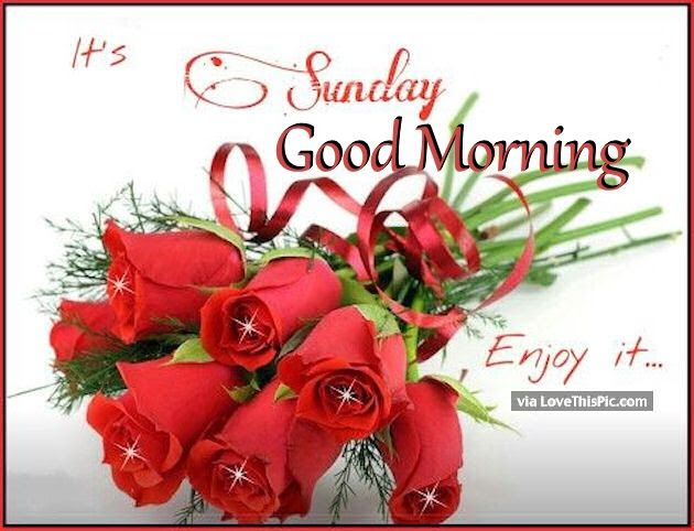 Sunday Good Morning Enjoy Your It Pictures Photos And Images For