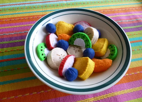 Felt play food - Fruit salad