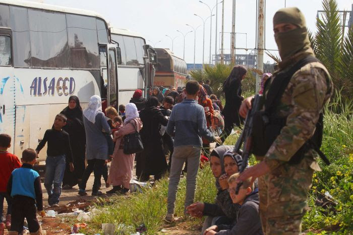 Image result for syrian bus convoy attacked