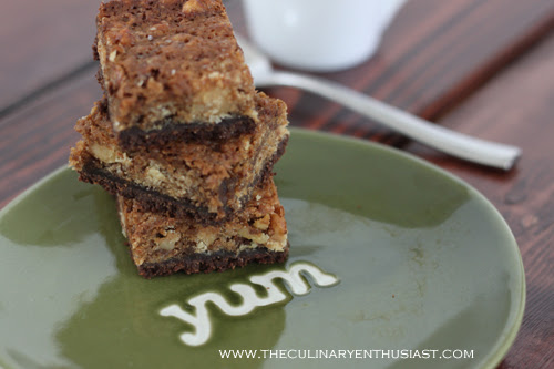 Banana Blondies with Chocolate Crust from the New York Times