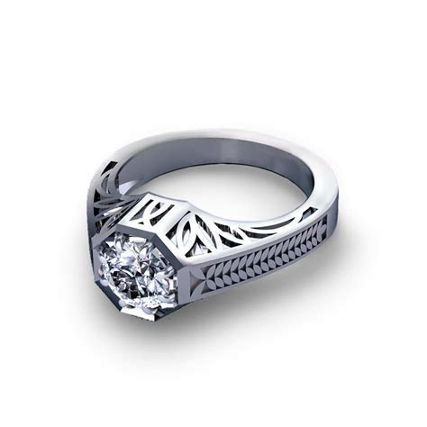 Octagonal Engagement Ring   Jewelry Designs
