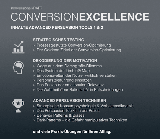 ConversionExcellence Training – Advanced Persuasion Tools
