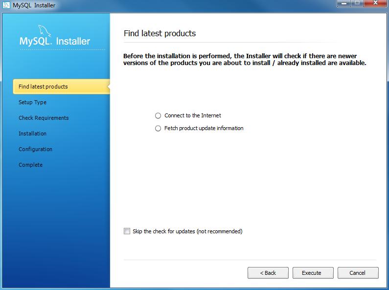Install MySQL Step 3 - Download the latest MySQL products