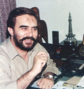 English: Picture of Mr. Ansar Burney at his of...