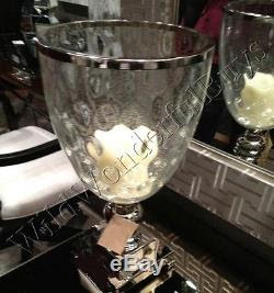 Bubble Glass Hurricane Candle Holder Pedestal Centerpiece ...