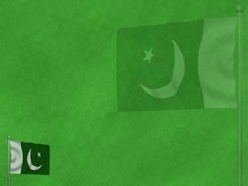Pakistan Flag 02 Powerpoint Templates