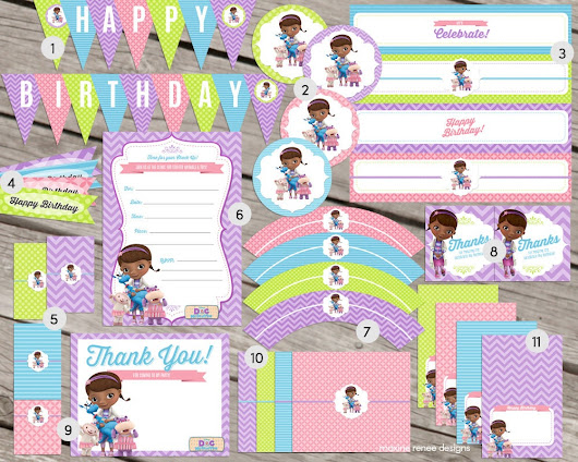 Printable Party Packs Added to the Shop