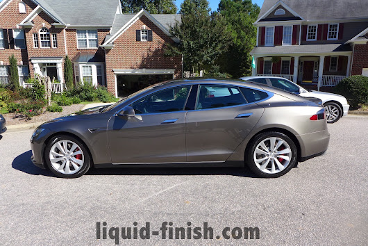 Tesla P90D Warm Silver Coating